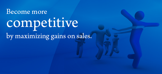 Become more competitive by maximizing gains on sales.
